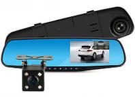Видеорегистратор зеркало на 2 камеры Dvr Full HD