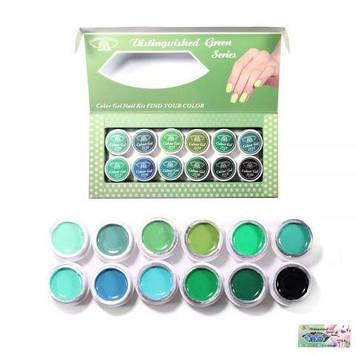 Набор гель-красок 5 ml Зелёный K34