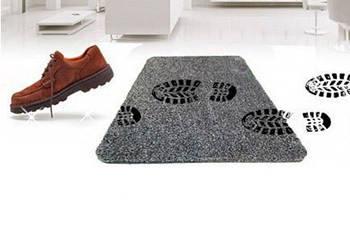 Придверні супервбираючий килимок Clean Step Mat Чорний