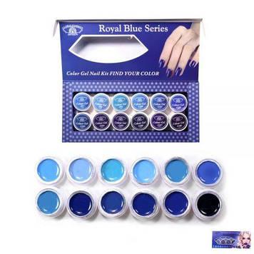 Набір гель-фарб 5 ml*12 баночок Синій