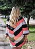 Яркий меховой свитер, стильная женская меховая одежда LEAshop, фото 2