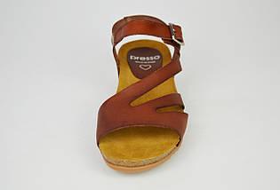 Босоніжки шкіряні коричневі Іспанія Presso 3243, фото 3
