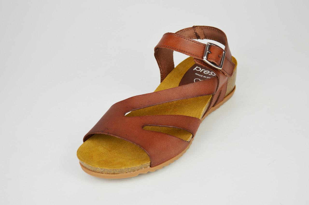 Босоніжки шкіряні коричневі Іспанія Presso 3243