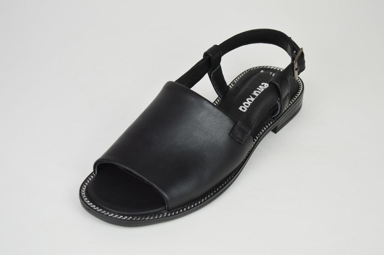e7accfa9ba45fa Босоніжки жіночі на плоскій підошві чорні Evromoda 1811 - КРЕЩАТИК - интернет  магазин обуви в Александрии
