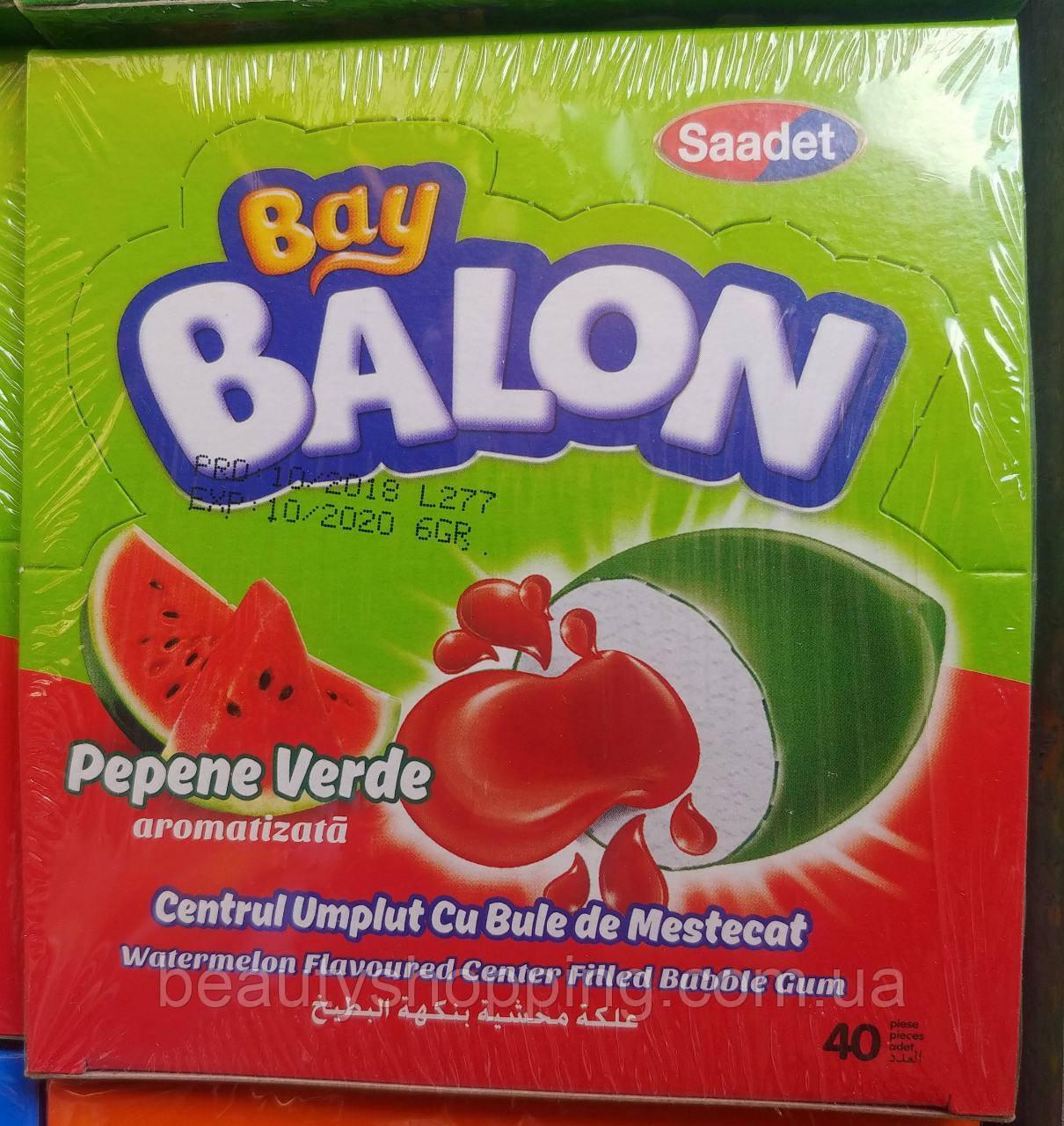 Bay Balon Watermelon жевательная резинка с жидким центром со вкусом арбуза 40 шт Saadet Турция