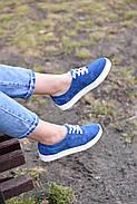 Женские кеды Destra синие с натуральной кожи, фото 4