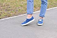 Женские кеды Destra синие с натуральной кожи, фото 5