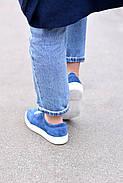 Женские кеды Destra синие с натуральной кожи, фото 7
