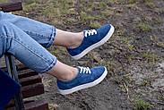 Женские кеды Destra синие с натуральной кожи, фото 9