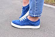 Женские кеды Destra синие с натуральной кожи, фото 8