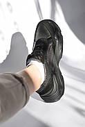 Женские кроссовки Destra с черной натуральной кожи\замши, фото 2