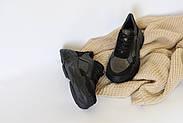 Женские кроссовки Destra с черной натуральной кожи\замши, фото 5