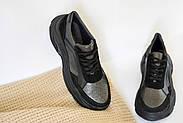 Женские кроссовки Destra с черной натуральной кожи\замши, фото 7
