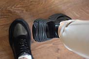 Женские кроссовки Destra с черной натуральной кожи\замши, фото 8