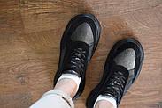 Женские кроссовки Destra с черной натуральной кожи\замши, фото 9