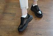 Женские кроссовки Destra с черной натуральной кожи\замши, фото 10