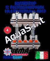ICMA Колектор з витратомірами для теплої підлоги на 4 контури Арт.K013