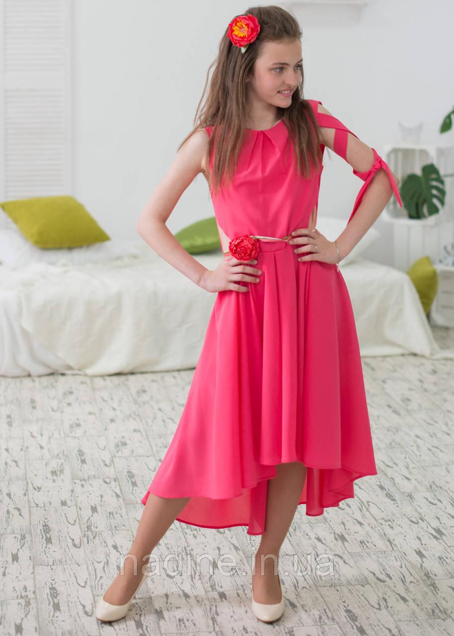 Платье дизайнерское Nadine Роскошный Пион рост 152 Коралловое