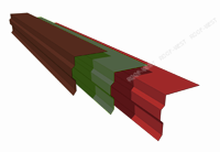 Планка торцевая №1 длина изделия (2м) Zn, толщина 0,45