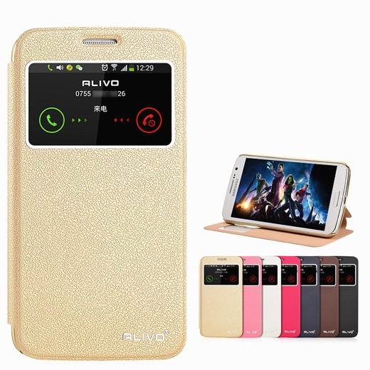 """Samsung G7102 GRAND 2 оригинальный SMART чехол книжка с окошком фактурный для телефона """"ALIVO SMART"""" розовый"""