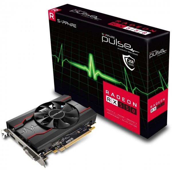 "Видеокарта Sapphire Radeon RX 550 2GD5 PULSE (11268-03) GDDR5 ""Over-Stock"" Б/У"