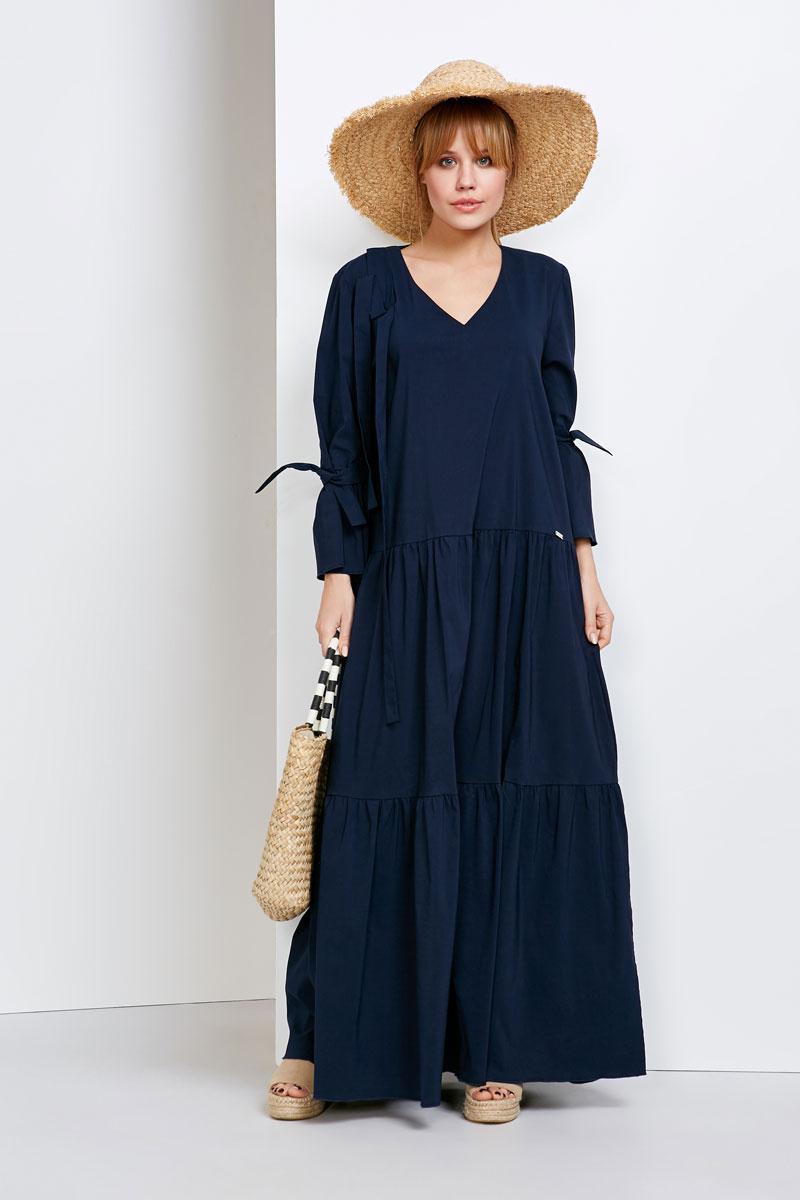 2144 платье Сенье, темно-синий (40-42)