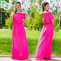 Платье летнее № 244 в пол в цветах маг.