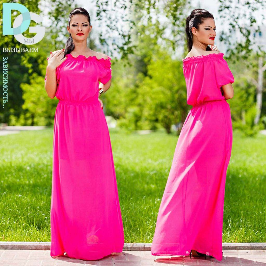 Платье летнее № 244 в пол в цветах маг., фото 1