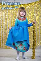 Мережка Платье под вышивку бисером сшитое без рукавов 34р., фото 1
