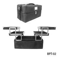 Сумка BPT-02 для хранения и транспортировки принадлежностей мастеров, из плотной ткани (черная)
