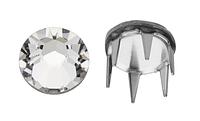 Камни в серебряных цапах шипах Swarovski 53303 пришивные Crystal