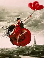 """Картина по номерам """"Танец в небе Парижа"""" (40*50 см), фото 1"""
