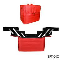 Сумка BPT-04C  для хранения и транспортировки принадлежностей мастеров, из плотной ткани (красная)