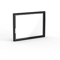 "Дверца для камина Ognevoda 800×570 мм, стекло ""плазма""(нар), ручка Nero, фото 1"