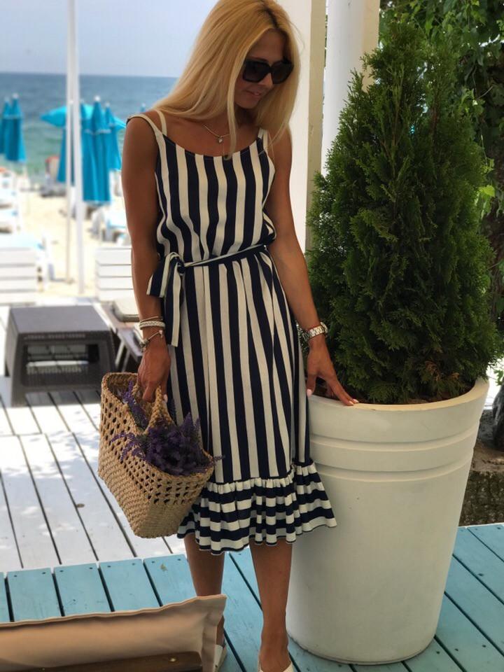Платье женское летнее в полоску