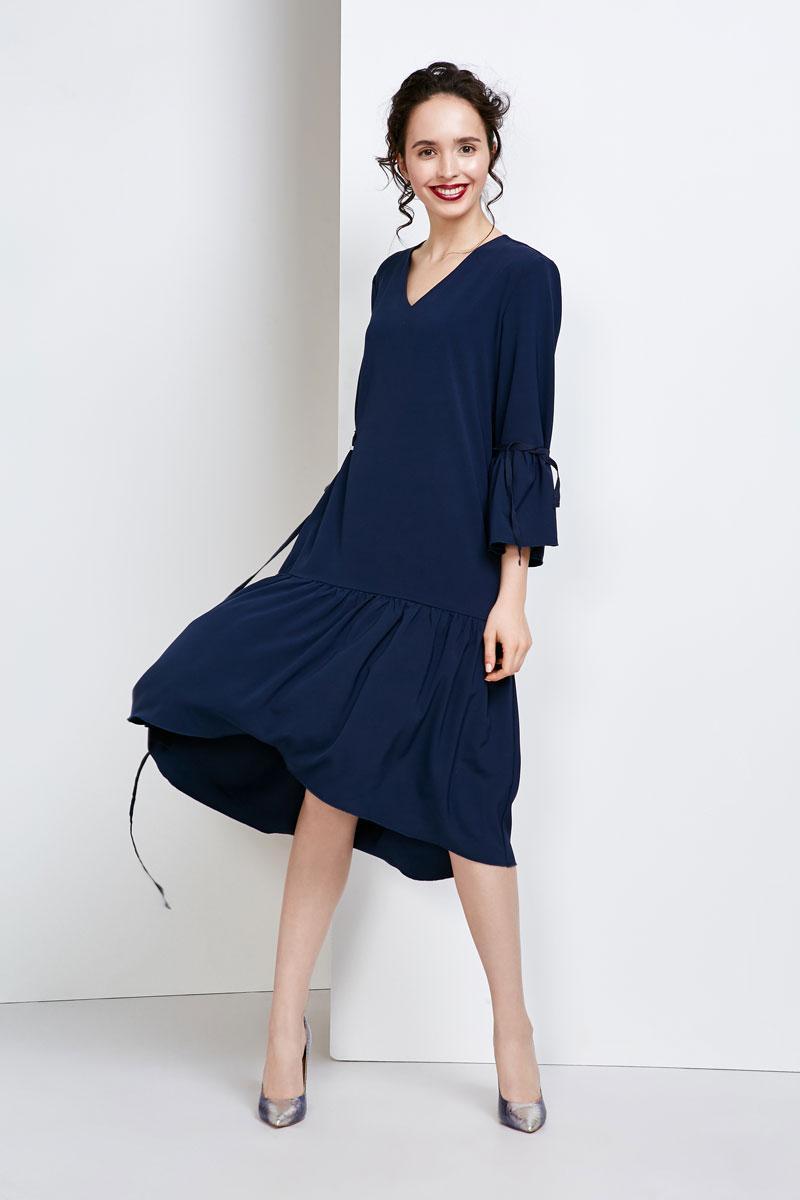 2139 платье Розе, темно-синий (52-54)