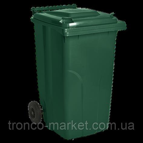 Контейнер для мусора на колесах 120л, пластик,Украина, фото 2