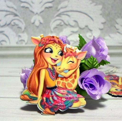 "Пластиковый клеевой декор ""Кукла Hairdorables -1"", 4,2 х 3,5 см"
