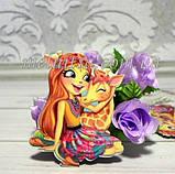 "Пластиковый клеевой декор ""Кукла Hairdorables -1"", 4,2 х 3,5 см, фото 2"