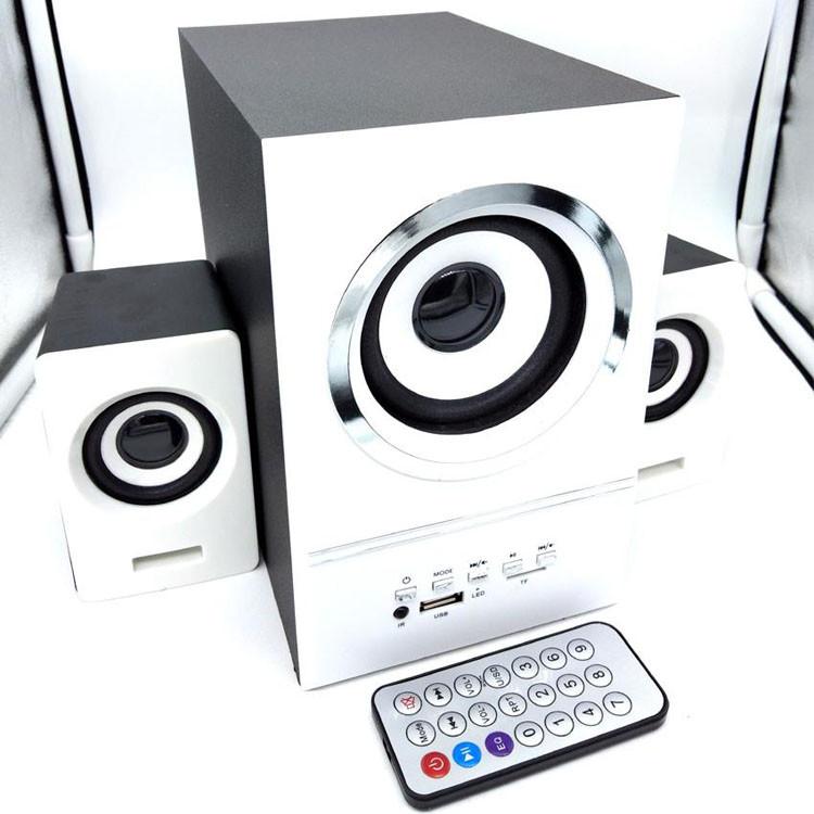 Колонки для компьютера SW 801U с сабвуфером Белые Акустическая система