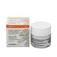 Крем-маска для лица с маслом греческой мастики и глиной
