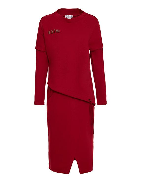 2091 платье Теннесси, вишня (42-44)