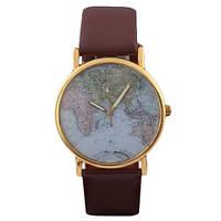 """Часы женские """"Мир"""" - коричневые , фото 1"""