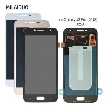 Дисплей Samsung J250 Galaxy J2 (2018) OLED + сенсор голубой