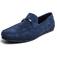 Летние мокасины замшевые синие с перфорацией мужская обувь Rosso Avangard ETHEREAL Cross Sapphire, фото 1