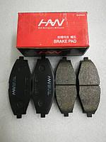Колодки тормозные передние Ланос 1.5i, Lanos T100, HS04-DW019, 96316582