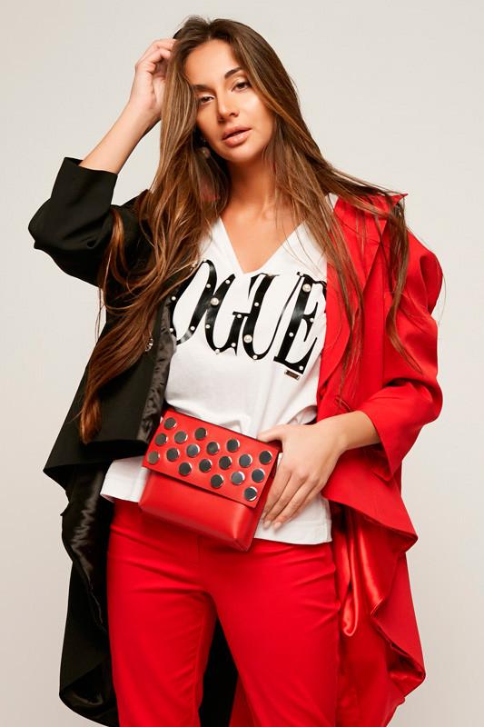 2171 футболка Vogue, белый - черный (42-44)