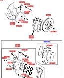 Колодки тормозные передние киа Соренто 2, KIA Sorento 2009-12 XM, HS04-HD017, 581012pa70, фото 3