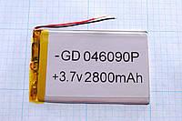 Литий-полимерный аккумулятор GP046090P (2800mAh) 4*90*60mm