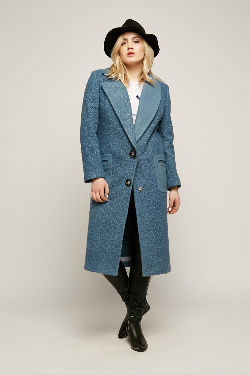 2185 пальто Берген, голубой (S)